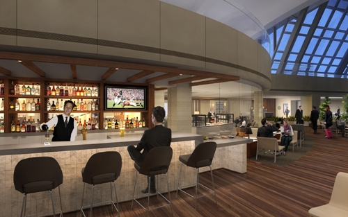 StarAllianceLounge LAX bar over concourse 2392012