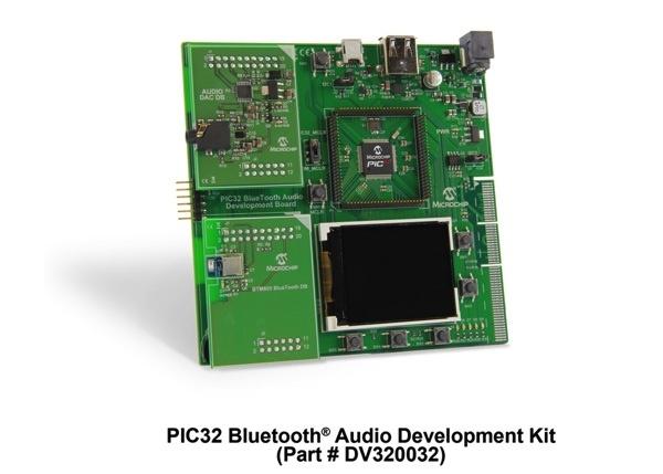 DV320032 PIC32 Bluetooth Audio Development Kit_Angle_7 X 5 copy