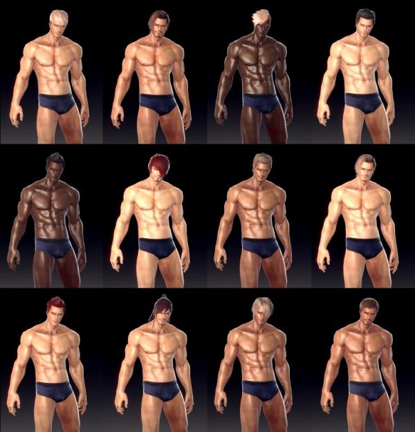 07 玩家創角「赫克」可透過髮型、鬍鬚、內衣、臉部彩繪等選項進行高度的客製改造