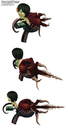 09-可愛逗趣的「達達PP槍」(左)及「拉拉QQ槍」(右),讓玩家在肅殺氣氛中盡情搞笑