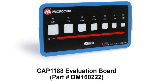 DM160222_CAP1188 Evaluation Board_Angle_7x5