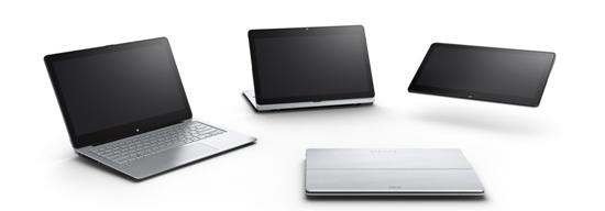 Sony 新聞圖片-VAIO  Fit multi-flip™ PC,共發表13吋、14吋、15吋三機型,結合筆記型電腦、平板電腦及影音觀賞三種不同模式!