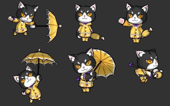 03-《艾爾之光》中萌萌惹人愛的「雨衣小貓蕾比」
