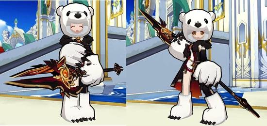 07 身穿「北極熊套裝」的「艾拉」在聖誕節當天期待與玩家在《艾爾之光》相見!
