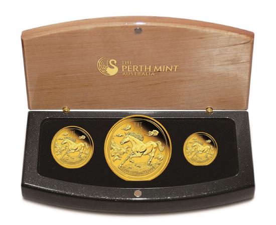20131219馬年精鑄金幣-3枚套幣