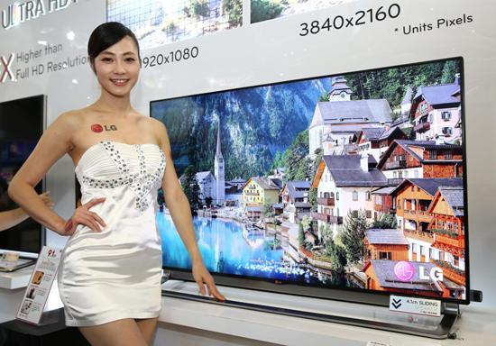 LG Ultra HD TV超高畫質電視55型,大尺寸電視詢問度和購買度提升成市場趨勢
