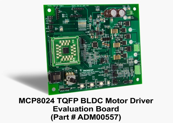 MCP8024_TQFP_BLDC Motor Driver Evaluation Kit_angle_7x5 copy