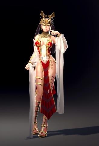 11-玩家可依自己喜好裝扮出不同個性外貌的「玲」,換上「伊瑟特」沙漠公主時裝,更可突顯她「玲」瓏有緻的體態曲線!