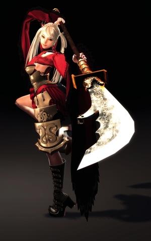2-「玲」是樓蘭古城的公主,無論是臉孔、長袖羽衣,以及比自己身形還長的絕殺武器—長槍都充滿了濃濃的中國西域風情