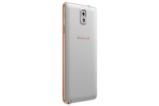 Samsung GALAXY Note3玫瑰金白_背面左 copy