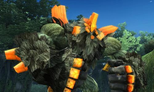 05 茂密的「森林」中,玩家將挑戰高大且外殼堅硬的「岩石熊」將以碩大拳頭與玩家戰鬥