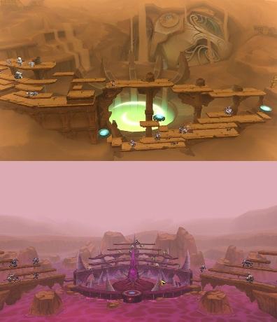 2014圖2-《艾爾之光》沙德村莊將開啟全新原野地圖「沙提勒斯之墓」(上)及「貝西莫斯火山口」(下)