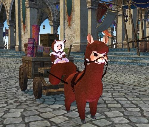 7-傲嬌羊駝可拉動玩家的馬車奔馳千里