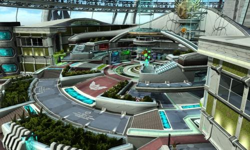 04 玩家進入遊戲選擇種族、職業並完成創角後,將會先抵達「神諭」船艦雄偉的大廳