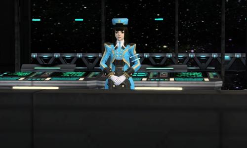 05 大廳中玩家可看到各式各樣商店和櫃台—任務接取櫃台服務員莉貝卡