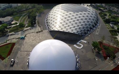 2014風光明媚的花博公園舞蝶館變身巨大的驚嘆號,帶來5次方的驚奇