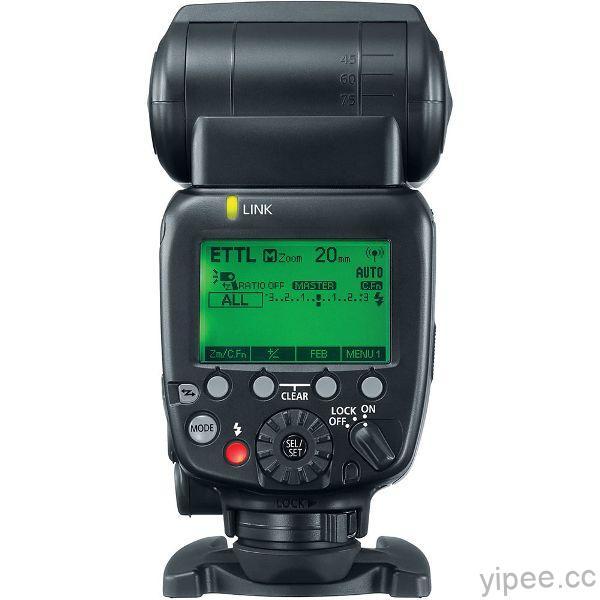 Canon專業無線電閃光燈Speedlite 600EX II-RT背面為大型LCD