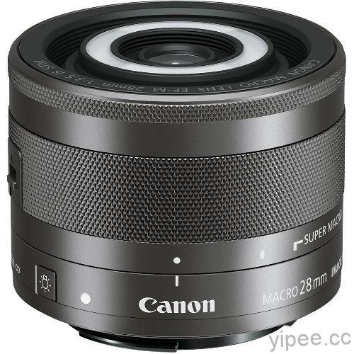 圖一 Canon 隆重宣佈推出首支EOS M數位相機專用EF-M輕巧微距鏡頭EF-M 28mm f3.5 Macro IS STM。