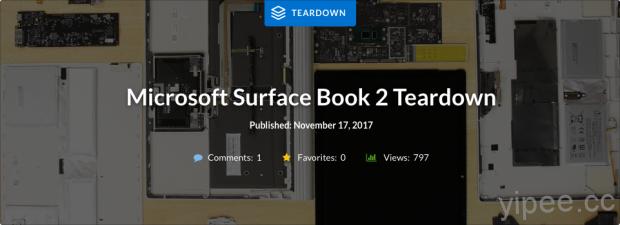 日前 MicrosoftSurface Book 2 上市,知名維修團隊 iF […]