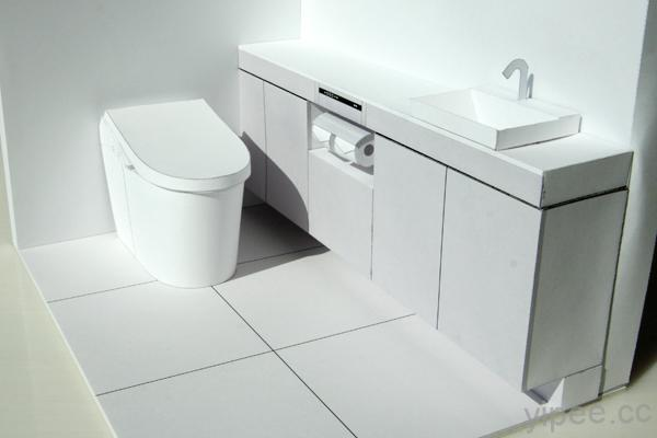 TOTO 提供多款免費紙模型 PDF 檔案,衛浴、廚具等一應俱全