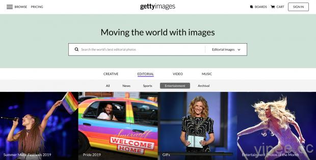 【免費】全球最大圖庫 Getty Images 提供合法嵌入照片,省下購買照片的費用!
