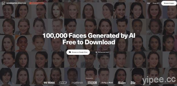 【免費】「100,000 Faces」十萬個不存在這世界上、也不會有肖像權的人,可用於商業用途