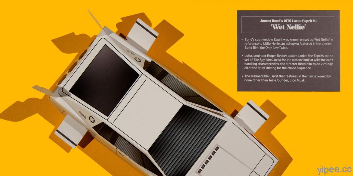 【免費】紙模型復刻《007:海底城》潛艇車 LOTUS ESPRIT 「Wet Nellie」一張 A4 就搞定!