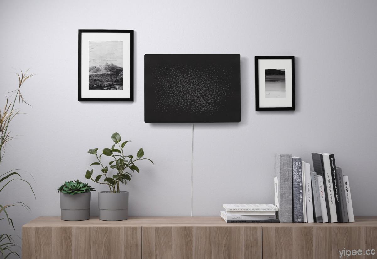 牆面上的那幅畫竟然是 IKEA 和 Sonos 設計的無線音響