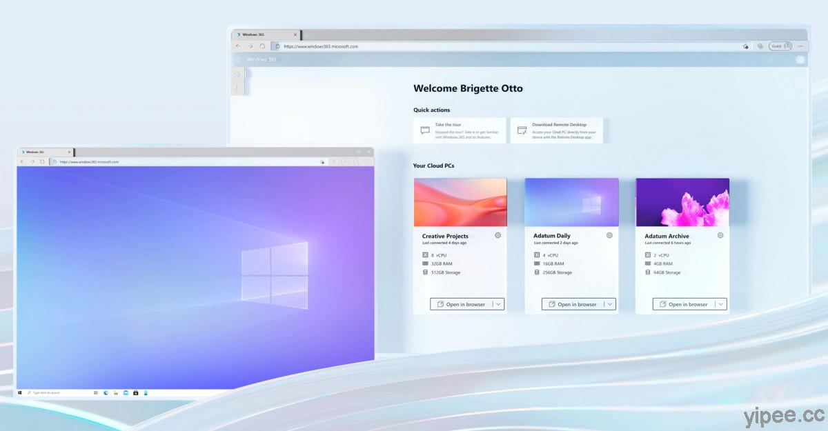 Microsoft 微軟推出「Windows 365 Cloud PC」雲端電腦