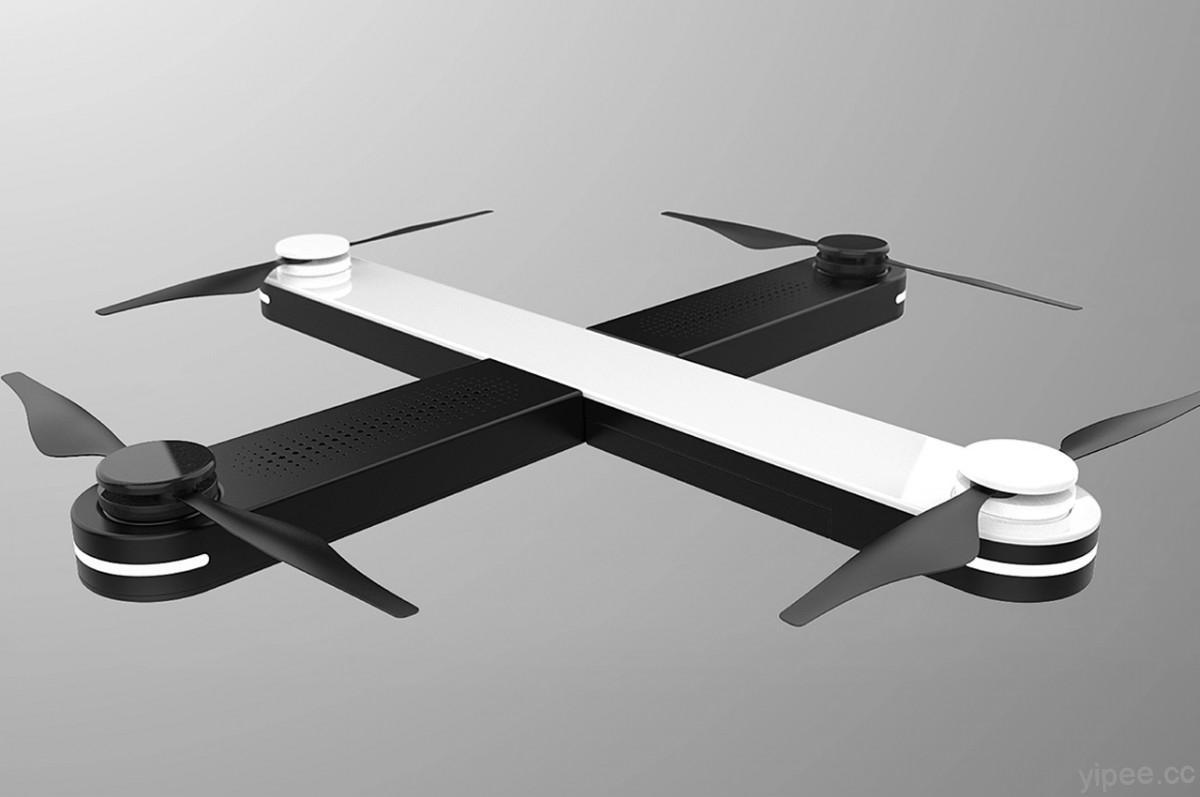 口袋收納的時尚美型無人機,磁性模組化設計組裝完成就能起飛!