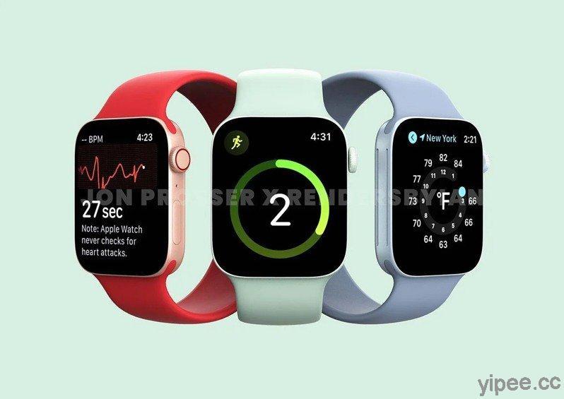 傳出 Apple Watch Series 7 變大了,將推出 41mm 和 45mm 兩種尺寸