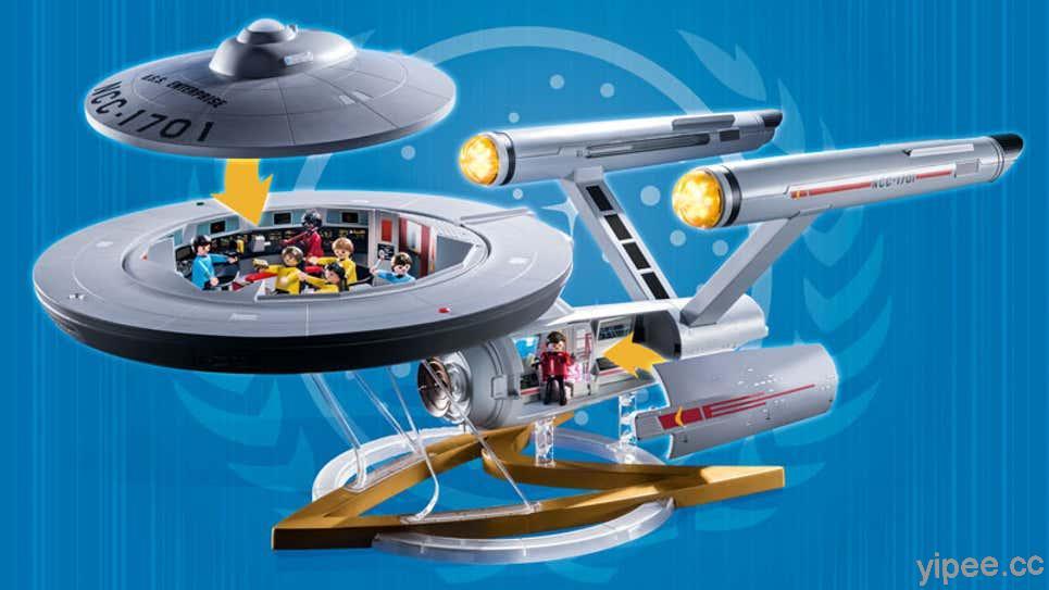 《星艦迷航》粉絲看緊荷包!Playmobil 打造細膩的「企業號」飛船模型