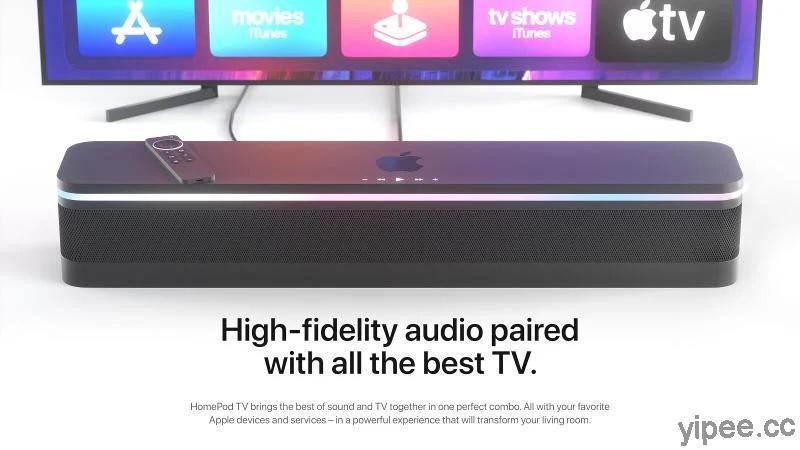 HomePod 紅不起來?國外設計師結合 Apple TV 重新設計「HomePod TV」和「HomePod Show」