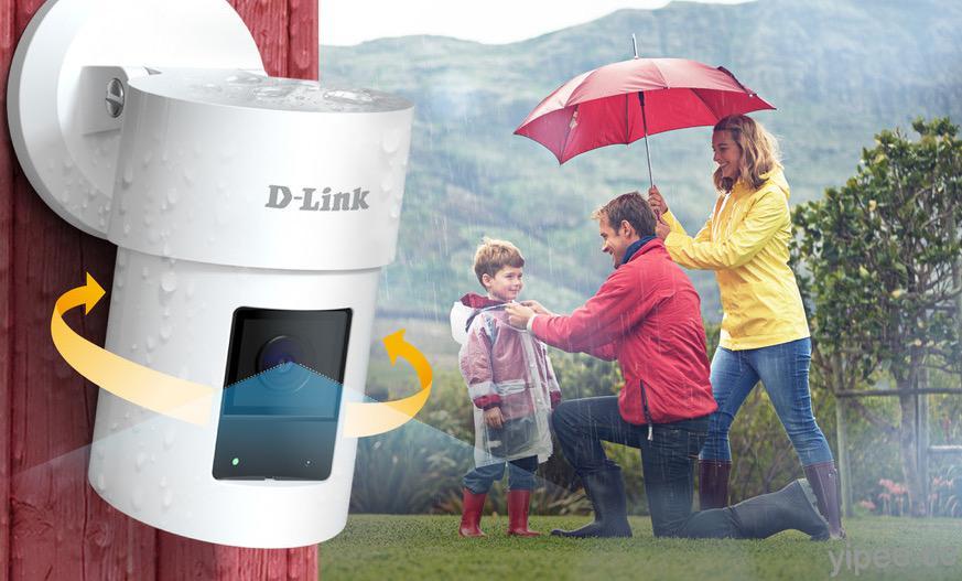 D-Link 推出新款旋轉戶外網路攝影機 ,支援 360 度全景監看、2K QHD畫質、IP65防水防塵等功能