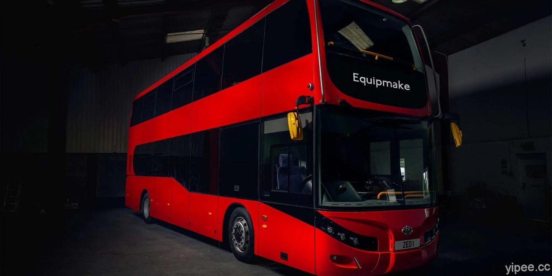 英國公司打造電動雙層巴士,配備 543 kWh 超大電池、續航里程達 402公里