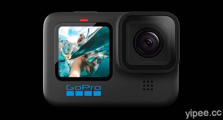 GoPro HERO10 Black 搭載 GP2晶片、可拍5.3K/60fps,售價NT$17,000